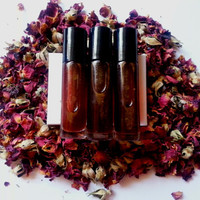 SINGLE ROSE Valentine's Day Rose Spagyric Tincture Perfume with Rose Quartz and Red Tiger's Eye
