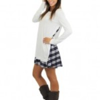 Ivory And Plaid Tunic Dress