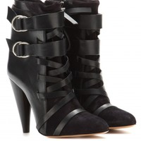 Royston leather and suede ankle boots