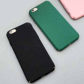 Fashion Luxury Ultra Slim Case For iphone 5S Case For iphone 5 6 6S Plus Colorful Frosted Hard Scrub Back Cover Phone Cases Capa