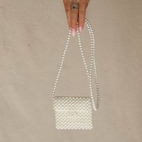 Much Love Beaded Pearl Crossbody Coin Purse