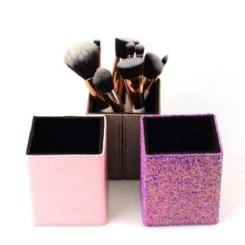 Makeup Brush Barrel Storage Bucket Make Up Organizer