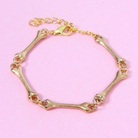 Bone China Bracelet Gold