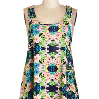 ModCloth Mid-length Sleeveless Take Your Tropic Top