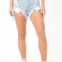 Momokrom Distressed High-Rise Shorts
