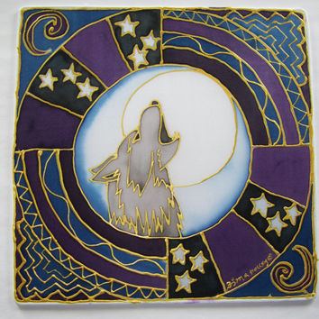 "mandala art,"" The Wolf"", animal guide art, shamanic art, pagan, new age, metaphysical, wolf art, meditation art, spiritual art ,"