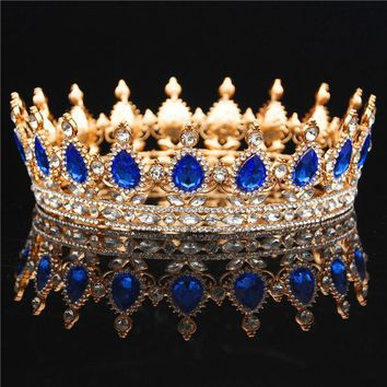 Cool Bride Tiara Crown For Women Headdress Prom Diadem Bridal Wedding Crown Queen King Tiaras and Crowns Wedding Hair AccessoriesAT_93_12