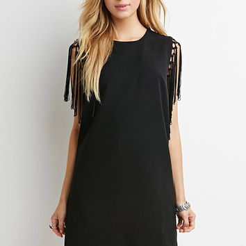 Tasseled Shift Dress