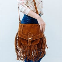 Fashion Retro Suede Tassel Single Shoulder Bag Messenger Bag