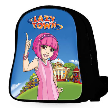 Stephanie Lazytown Cartoon Backpack