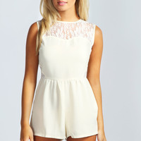 Annie Lace Insert Playsuit
