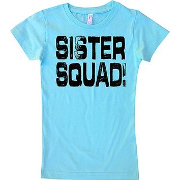 Micro Me Aqua 'Sister Squad' Fitted Tee - Toddler & Girls