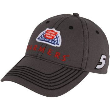 Chase Authentics Kasey Kahne Farmers Official Pit Adjustable Hat - Charcoal