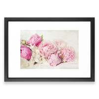 Society6 Peonies On White Framed Print