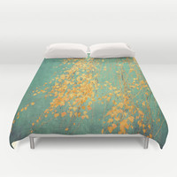 whispers of yellow Duvet Cover by ingz