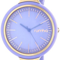 RumbaTime Women's Orchard Gloss Violet Tulip Analog Display Japanese Quartz Purple Watch