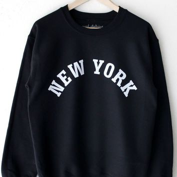 New York Oversized Sweatshirt - Black