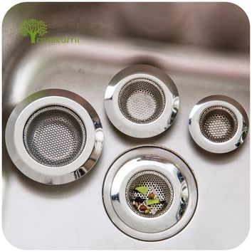 Three Size Stainless Steel Bathtub Hair Catcher Stopper Shower Drain Hole Filter Trap Metal Sink Strainer