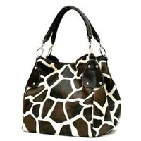 FASH Giraffe Print Faux Leather Tote Handbag-women Hand Bag,casual Bag,girls College Bag,shopping Bag:Amazon:Shoes