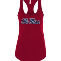 Official NCAA University of Mississippi Rebels Ole Miss Hotty Toddy Next Level Racerback Tank - 95OLM