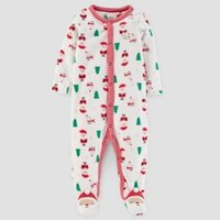 Baby's Christmas Print Fleece Sleep N' Play - Just One You™ Made by Carter's® Cream