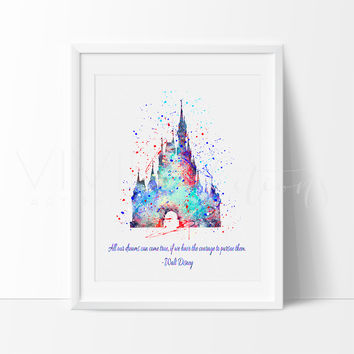 Cinderella Princess Castle, Walt Disney Quote