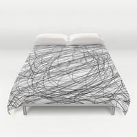 Fun pen scribbles Duvet Cover by Ummuhan Uslu