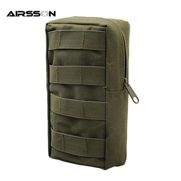 Airsson Airsoft Sports Military 600D MOLLE Utility Tactical Vest Waist Pouch Bag For Outdoor Gadget Hunting Wasit Pack Equipment