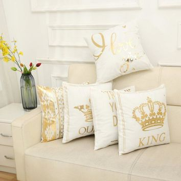 Gold Foil Pillow Collection