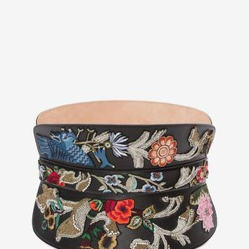 Embroidered Corset Belt | Alexander McQueen