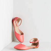 ModCloth Neon Presh Play Flat in Coral