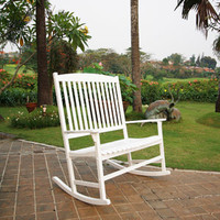 Walmart: Mainstays Outdoor Double Rocking Chair, White, Seats 2