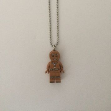 Lego Gingerbread Man Necklace