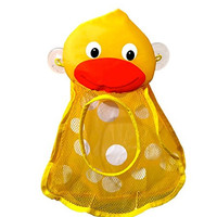 Momma Duck Bath Toy Organizer Toy Storage Bath Toys for Baby tub Toys for infant girls and infant boys or toys for 2 year old