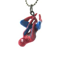 Realistic Dangling Spiderman Shaped Figurine Pendant Necklace | Marvel Super Heroes | redditgifts