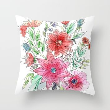 Wild flowers Art Print by Juliagrifol Designs
