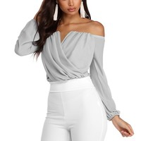 Sophisticated In Chiffon Strapless Top