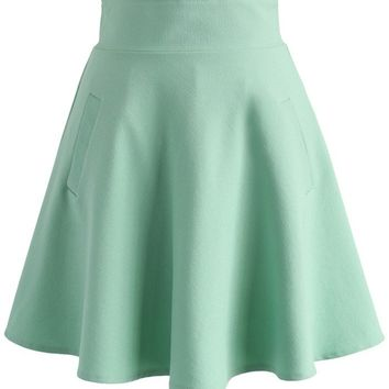 Ought to Be A Green Skater Skirt