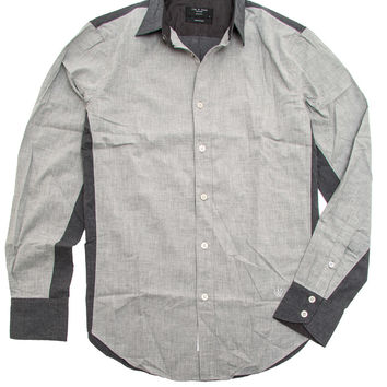 Rag & Bone Grey Paneled Stock Shirt
