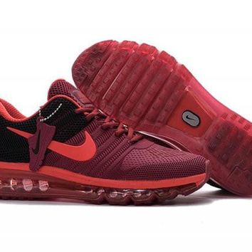 Nike Air Max 2017. Red & Black. Men's Athletic Sneakers Running Shoes