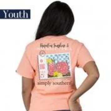 "Youth Simply Southern ""Preppy Tea"" Short Sleeve Tee"