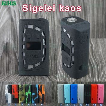 Colorful Sigelei Kaos Spectrum Mod 230 Silicone Case Protective Sleeve Cover for Kaos 230W Mod E Cigarette free shipping