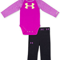 Under Armour Baby Set, Baby Girls 2-Piece Long-Sleeve Logo Bodysuit and Yoga Pants
