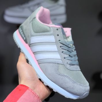 hcxx A1453 Adidas 2019 NEO 8K Retro Low Casual Running Shoes Gray Pink