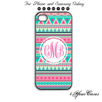 Monogram,Personalized INITIALS,iPhone 5/5S,iPhone 5C,iPhone ,Samsung Galaxy S3, Samsung Galaxy S4 Phone case,iPhone 4/ 4S Case