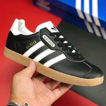 Adidas Originals Gazelle Classic Fashionable Women Men Casual Flat Sport Shoes Sneakers Black