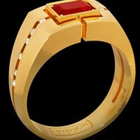 Mousson Atelier Mens Jewellery Collection Ruby and Diamond Ring R0071-0/1