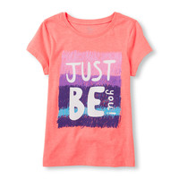 Girls Short Sleeve 'Just Be You!' Graphic Tee | The Children's Place