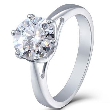 Love of Beauty 2ct  Moissanite Diamond Engagement Wedding Ring