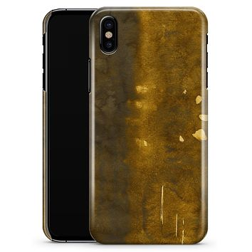 Stained Watercolor with Gold Specks - iPhone X Clipit Case